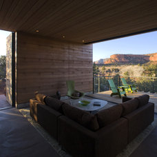 Modern Porch by the construction zone, ltd.