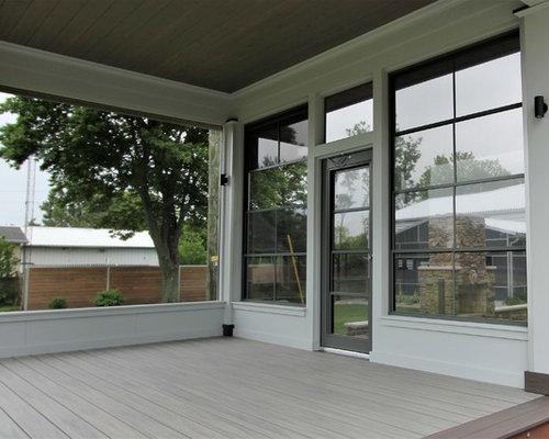 foto de porche cerrado minimalista pequeo en patio delantero y anexo de casas - Porches Cerrados