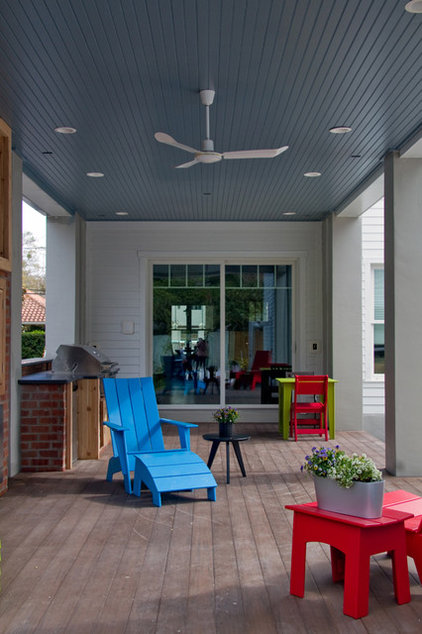 modern porch by Barn Light Electric Company