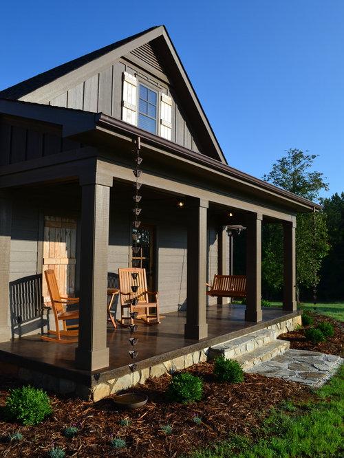 Cement Front Porch : Concrete porch houzz