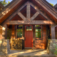 Rustic Porch by Lands End Development - Designers & Builders