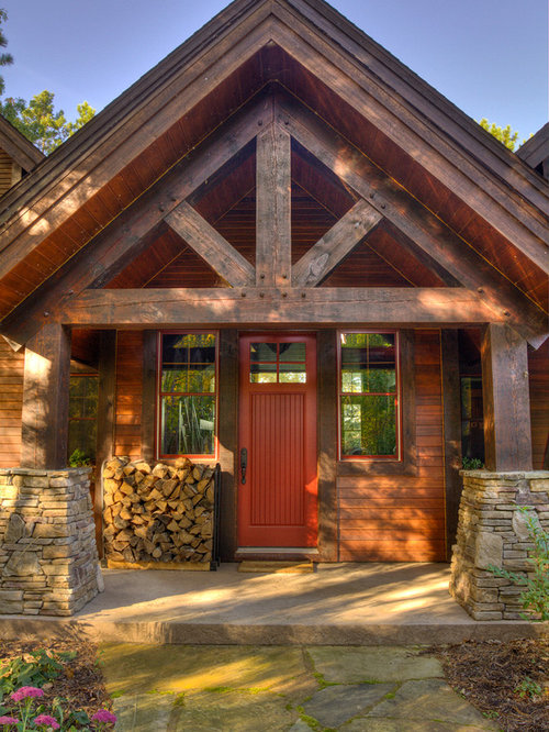 Rustic Porch Design Ideas Remodels amp Photos With Concrete