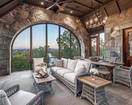 85 980 porch design ideas remodel pictures houzz for Case rustiche