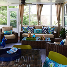Transitional Porch by traci zeller designs