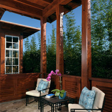 Contemporary Porch by Charles Clayton Construction Inc