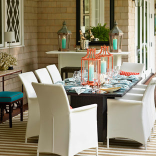 Inspiration for a contemporary porch remodel in Other