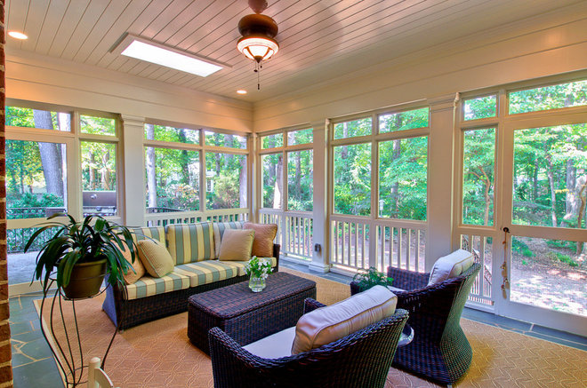 Traditional Porch by Andrew Roby General Contractors