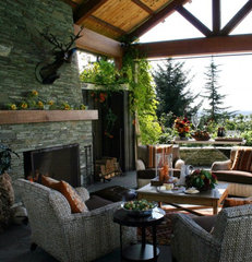 traditional porch by Garrison Hullinger Interior Design Inc.