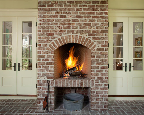 Reclaimed Brick Fireplace Houzz