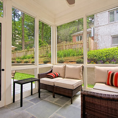 Classic porch idea in DC Metro with a roof extension