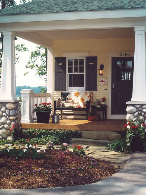 Inspiration For A Craftsman Front Porch Remodel In Grand Rapids With A Roof  Extension