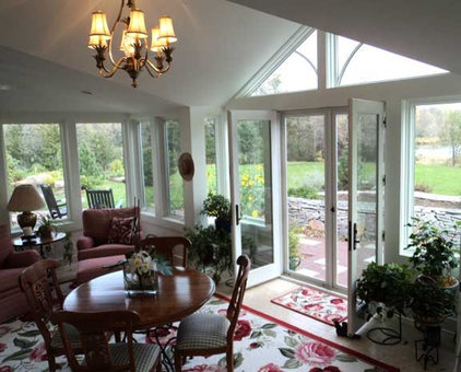 Traditional Porch by White Crane Construction