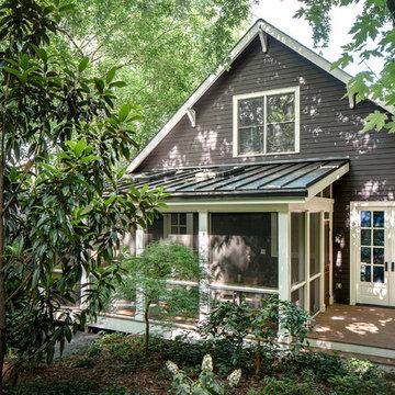 Transitional Kitchen and Porch Renovation in Atlanta