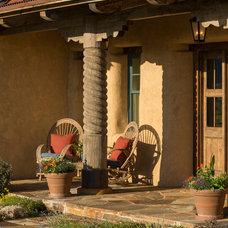 Southwestern Porch by Lynne Barton Bier - Home on the Range Interiors