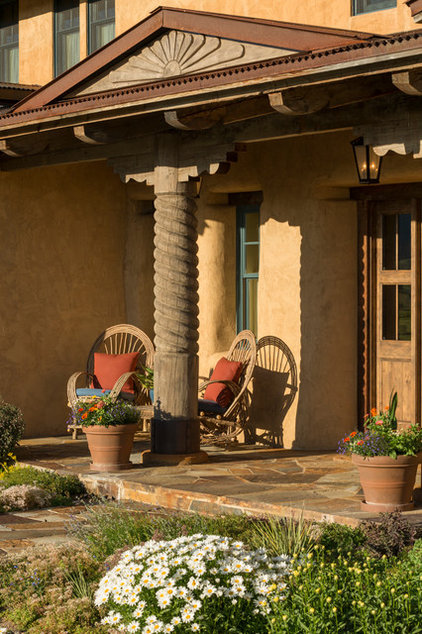 Rustic Porch by Lynne Barton Bier - Home on the Range Interiors