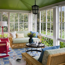Transitional Porch by Andrew Suvalsky Designs