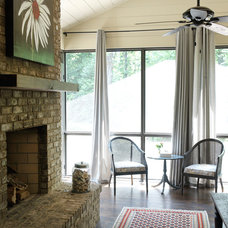 Transitional Porch by Clark & Zook Architects, LLC