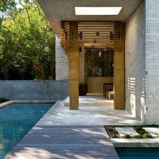 Idee per un portico tropicale con pedane