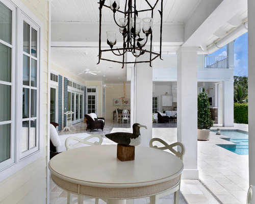 Island style porch idea in MiamiCaribbean House Plans   Houzz. Caribbean Homes Designs. Home Design Ideas