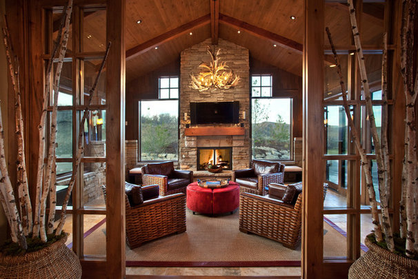 Rustic Porch by MHR Design