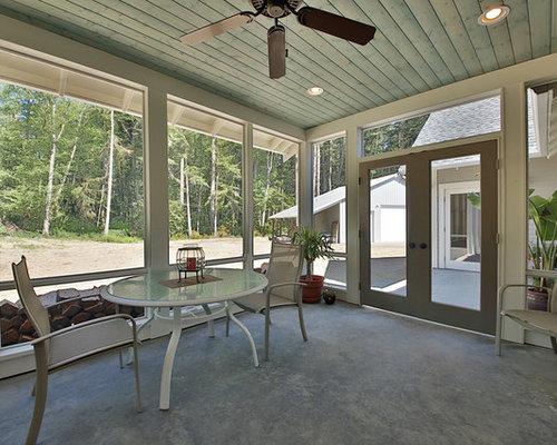 Fotos de terrazas dise os de porches cerrados de estilo for Disenos de porches de casas