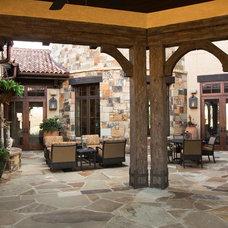 Mediterranean Porch by Ellis Custom Homes LLC