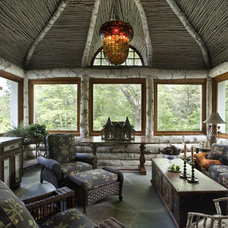 Eclectic Porch by Oak Hill Architects