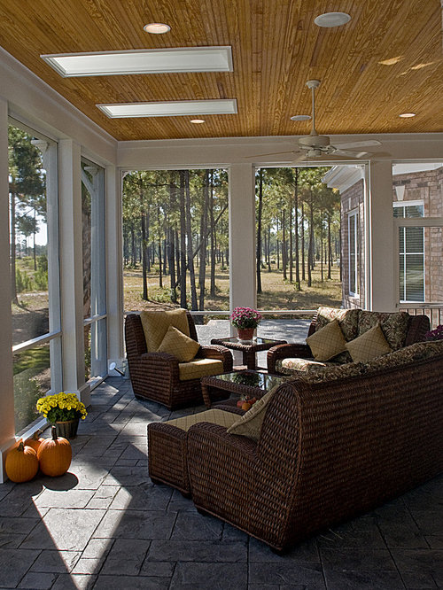 Screened Porch Flooring Home Design Ideas Pictures