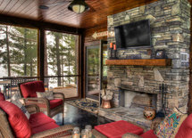 LOVE the fireplace!  Is that real stone or faux?