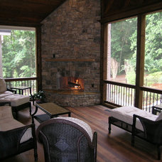 Contemporary Porch by Legacy Landscapes, Inc.