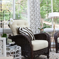 Transitional Porch by Roxanne Lumme Interiors, LLC