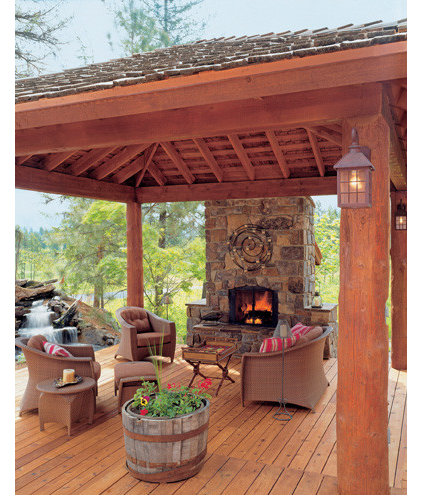traditional porch User-Friendly Cabin - Cabin Life Magazine