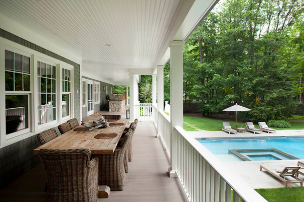 Traditional Porch by James Schettino Architects