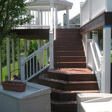 Traditional Porch by Custom Design Carpentry, Inc.