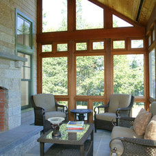 Contemporary Porch by Knight Associates