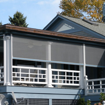 Waterfront living with motorized retractable screens