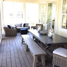 Traditional Porch by Lisa Gabrielson Design