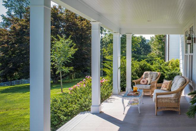 Farmhouse Porch by Lauten Construction