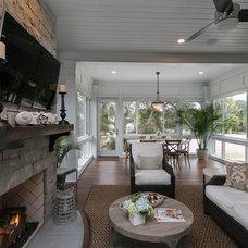 Beach Style Porch by Sea Island Builders LLC