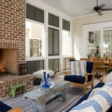 Beach Style Porch by sarah pejeau