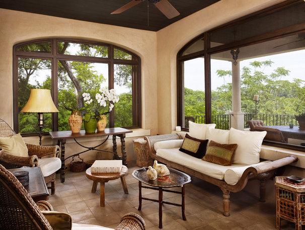 Mediterranean Porch by Clayton&Little Architects