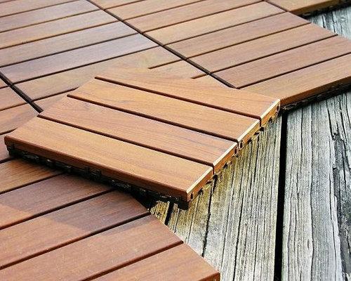 SaveEmail - Wood Deck Tiles Houzz