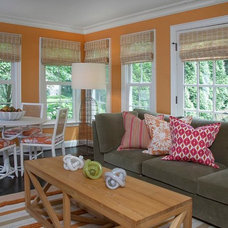 Transitional Porch by Dayna Flory Interiors