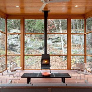Trendy screened-in porch idea in New York
