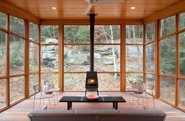 Contemporary Porch by Architectural Collaborative