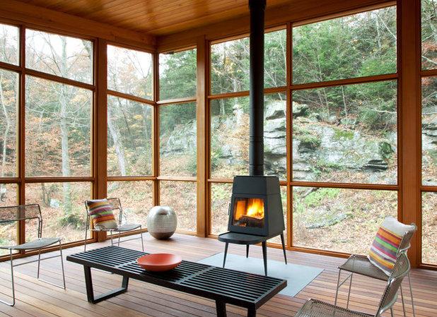 Contemporain Porche by Architectural Collaborative
