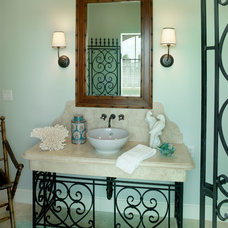 Tropical Powder Room by Andreozzi Architects