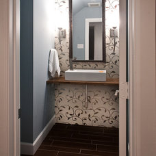 Modern Powder Room by Modern Craft Construction, LLC