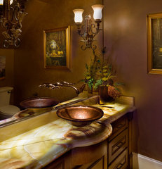 traditional powder room by Frankel Building Group