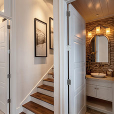 Traditional Powder Room by Kukk Architecture & Design P.A.